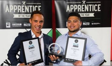Waikato Registered Master Builders Carters 2018 Apprentice of the Year